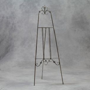 Large 170cm Antique Silver Metal Easel Freestanding Wedding Painting
